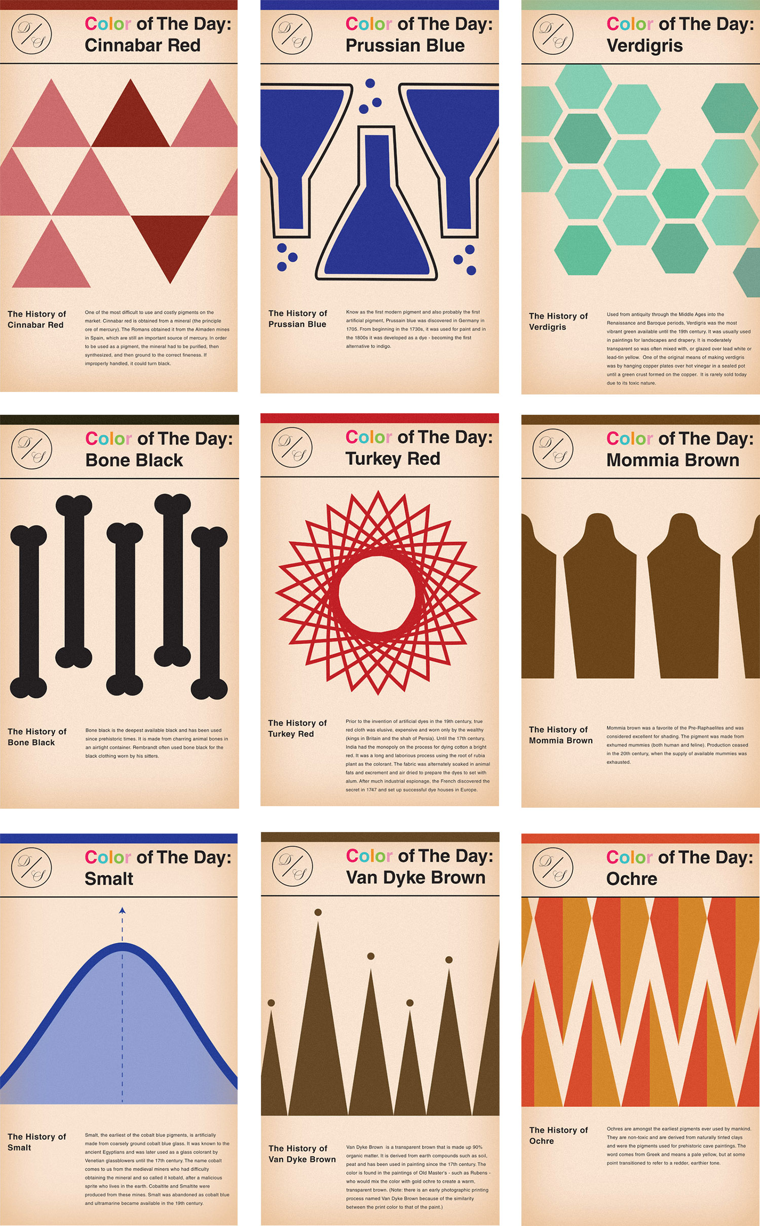Maxwell Tielman - Vintage Book Cover Inspired Color of The Day Graphics