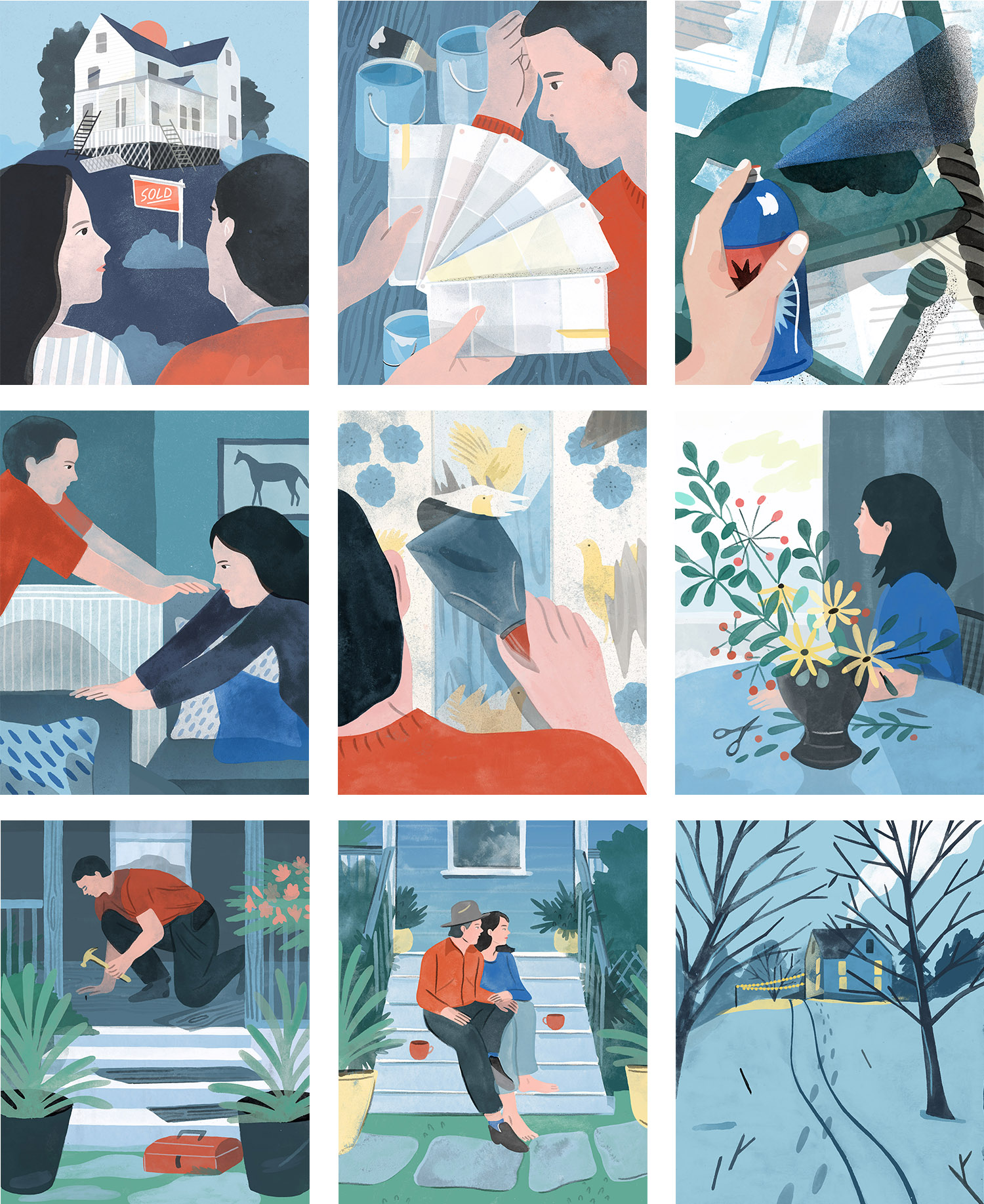 Maxwell Tielman - Home Renovation Series - Illustrated by Tallulah Fontaine